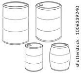 vector set of barrel | Shutterstock .eps vector #1006339240