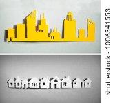 paper cut design. townhouses... | Shutterstock . vector #1006341553