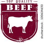 Top Quality Beef Crest - stock vector