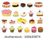 illustration of cakes and... | Shutterstock . vector #100635874