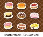 collection of sweets and... | Shutterstock . vector #100635928