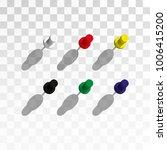 thumbtacks illustration. set of ... | Shutterstock . vector #1006415200