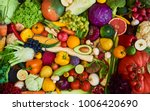 assortment of fresh fruits and... | Shutterstock . vector #1006420690