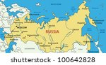 russian federation   vector map | Shutterstock .eps vector #100642828