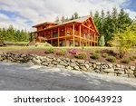 Beautiful Log Cabin On The Hill ...