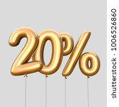 20  discount made of gold... | Shutterstock . vector #1006526860