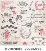 vector set  calligraphic design ... | Shutterstock .eps vector #100652983
