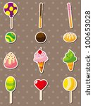 candy stickers | Shutterstock .eps vector #100653028