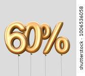 60  discount made of gold... | Shutterstock . vector #1006536058