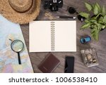 note book and world map for... | Shutterstock . vector #1006538410