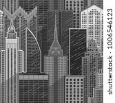 vector gray city skyline...   Shutterstock .eps vector #1006546123