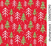 seamless christmas pattern | Shutterstock .eps vector #100655290