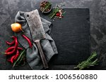 dark culinary background with... | Shutterstock . vector #1006560880
