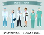 group of doctors and nurses... | Shutterstock . vector #1006561588