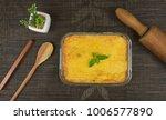 brazilian chicken pie. famous...   Shutterstock . vector #1006577890