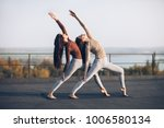 girls synchronously perform... | Shutterstock . vector #1006580134