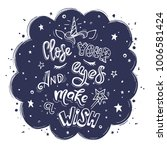 close your eyes and make wish.... | Shutterstock .eps vector #1006581424