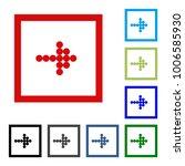 arrow vector button icon se.... | Shutterstock .eps vector #1006585930