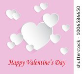 beautiful concept of valentines ... | Shutterstock .eps vector #1006586650