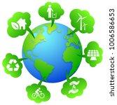 ecology planet   vector | Shutterstock .eps vector #1006586653