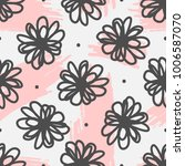 cute seamless pattern with... | Shutterstock .eps vector #1006587070