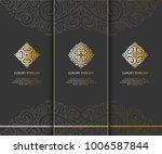 vector emblem. elegant  classic ... | Shutterstock .eps vector #1006587844