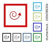 arrow vector button icon se.... | Shutterstock .eps vector #1006588306