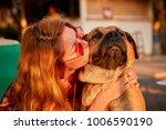 blonde attractive female... | Shutterstock . vector #1006590190