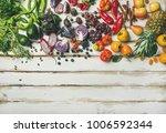 helathy raw vegan food cooking... | Shutterstock . vector #1006592344