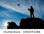 drone pilot and training time - stock photo