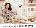 pregnant woman resting in... | Shutterstock . vector #1006595074