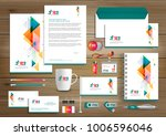 corporate identity business ... | Shutterstock .eps vector #1006596046