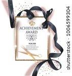 certificate of achievement... | Shutterstock .eps vector #1006599304