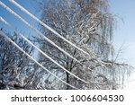 icy power lines. element  state ... | Shutterstock . vector #1006604530