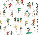 vector illustration seamless... | Shutterstock .eps vector #1006605460