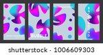 liquid color covers set. fluid...   Shutterstock .eps vector #1006609303