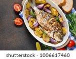 baked dorado with provencal...   Shutterstock . vector #1006617460