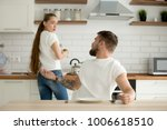 angry husband and shocked... | Shutterstock . vector #1006618510