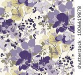 Stock vector vintage cherry blossom seamless vector pattern 1006619878