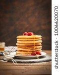 american breakfast pancakes  | Shutterstock . vector #1006620070