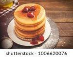 american breakfast pancakes  | Shutterstock . vector #1006620076