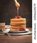 american breakfast pancakes  | Shutterstock . vector #1006620079