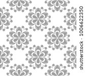 light gray floral ornament on... | Shutterstock .eps vector #1006622350
