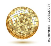 golden disco ball on white... | Shutterstock .eps vector #1006627774