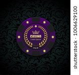 vip poker luxury purple chip... | Shutterstock .eps vector #1006629100