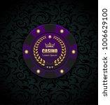 vip poker luxury purple chip... | Shutterstock .eps vector #1006629100