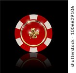 vip poker red and white chip... | Shutterstock .eps vector #1006629106