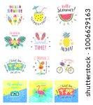set of summer color hand... | Shutterstock .eps vector #1006629163