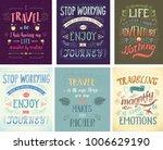 set of travel posters. vector...   Shutterstock .eps vector #1006629190