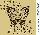 stylized leopard in butterfly... | Shutterstock .eps vector #1006630486